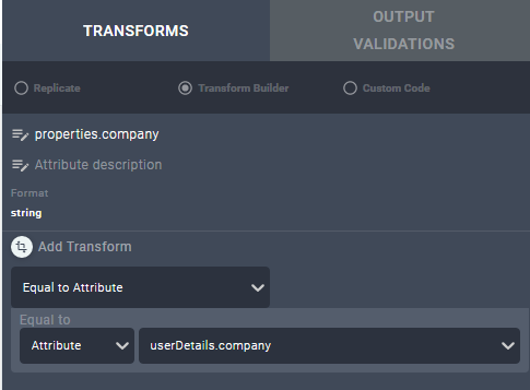 Transform screen
